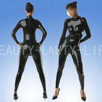Latex fetish suit costume soft rubber back zipper plus size customization 100% natural handmade