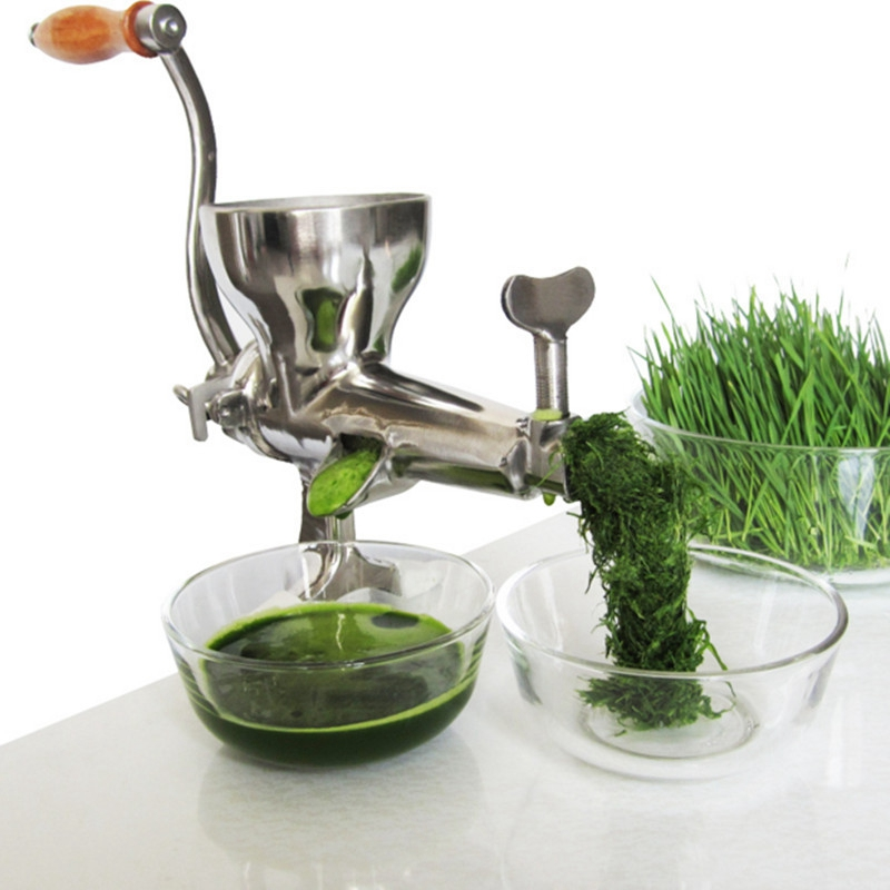 304 Stainless Steel Hand Wheat Grass Manual Juicer Auger Slow Squeezer Fruits Vegetables Orange Juice Extractor máy xay sinh tố của đức