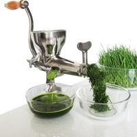 304 Stainless Steel Hand Wheat Grass Manual Juicer Auger Slow Squeezer Fruits Vegetables Orange Juice Extractor