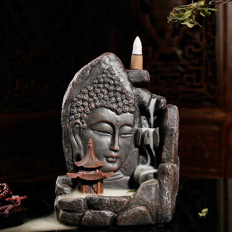 Обратный Ладан конусов или Ладан горелки Творческий ремесла Будды Ладан кадило камень свободное башня Ладан горелки