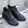 2016 Moda Casual Hombres Botas de Gamuza Otoño Invierno Tobillo de la Nieve de Herramientas Martin Estilo Británico Zapatos de Lona Hombres Zapatos Homme