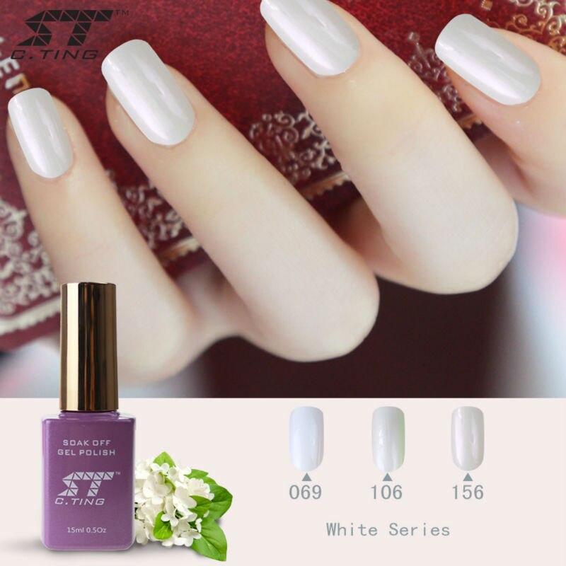 Color Blanco Nail Polaco Ultravioleta Del Gel Para Uñas