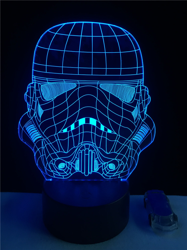 Luzes da Noite trooper soldado branco lâmpada 3d Function 3 : Stage Lighting Effect/wedding Decor/house Decoration