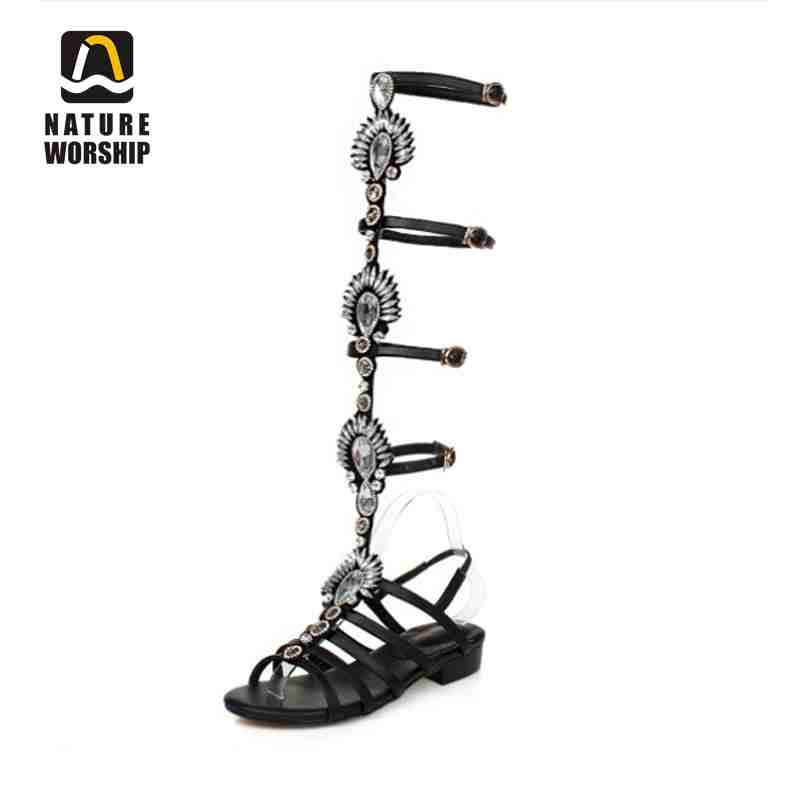 Retro womens shoes gladiator sandals women high boots summer shoes woman sandals boots genuine leather shoes women flats sandals phyanic 2017 gladiator sandals gold silver shoes woman summer platform wedges glitters creepers casual women shoes phy3323