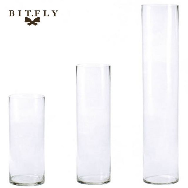 2017 New Arrival Acrylic Cylinder Vase Clear Round Plastic Wedding Table Flower Stander Road Lead T