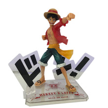 Anime Doll One Piece Monkey D. Luffy PVC Action Figure Toy 5th Anniversary Collection Model Christmas Gift For Children цена