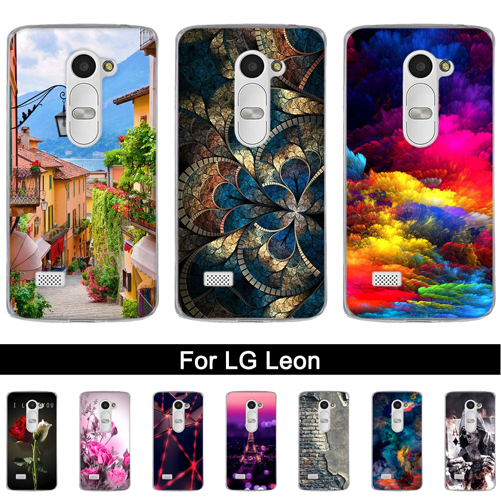 Soft Silicone Phone Cover Case For <font><b>LG</b></font> <font><b>Leon</b></font> <font><b>4G</b></font> <font><b>LTE</b></font> C40 H340N Cute Painted Back Cover For <font><b>LG</b></font> LEON4G <font><b>LTE</b></font> C40 H340N TPU Shells Bags image
