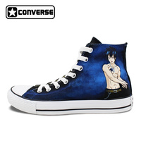 Custom Fairy Tail Converse High Top Shoes Men Hand Painted Fashion All Star Sneakers