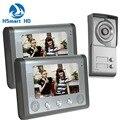 7inch Video Intercom Apartment HD 2 Monitor 1 Doorbell Camera 2 Buttons Door Phone System