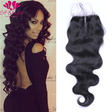 4*4 Brazilian Body Wave Closure 8A Virgin Human Hair Lace Front Closures Bleached Knots Free / 2 / Three Part Body Wave Closure