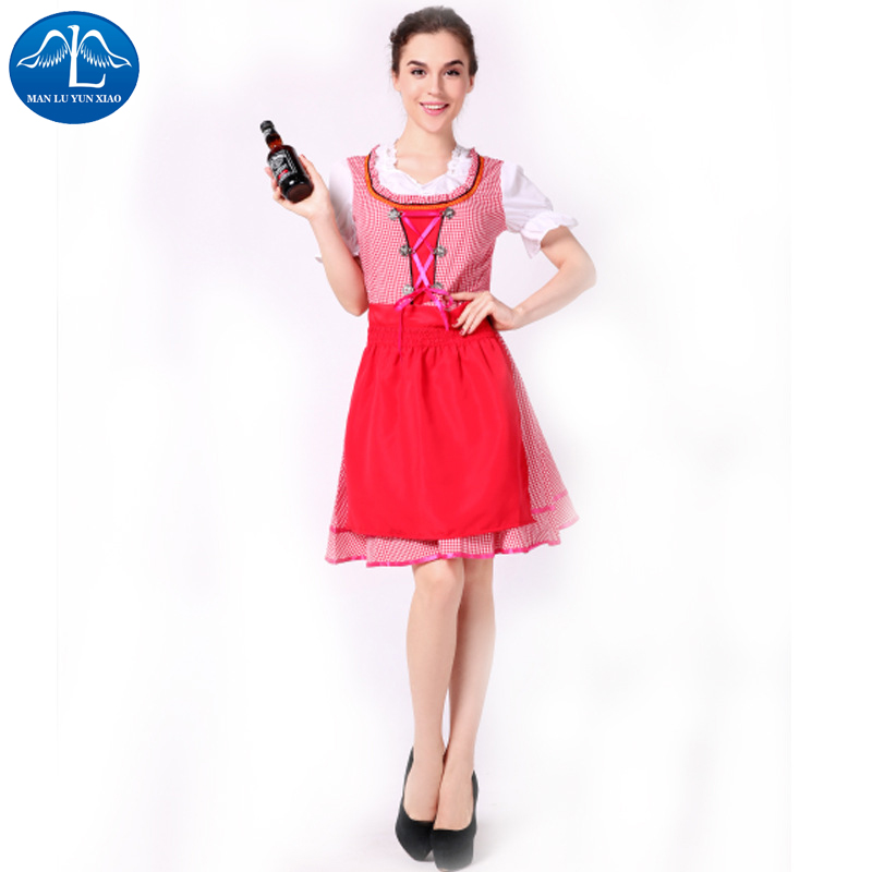 MANLUYUNXIAO  Beer Girls Dress German Oktoberfest Carnival Cosplay Costume Exotic France Maid Servant Costume Wholesale