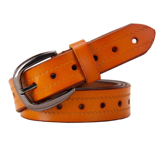 New Fashion Belts for Women Second Layer Cow genuine Leather High quality Woman belt Designer Strap for Jeans female girdle