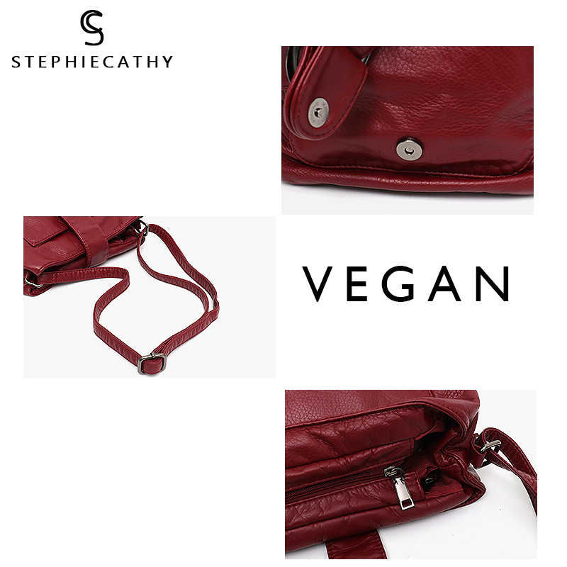 dfa81de0d8a9 SC Brand Candy Color Women Messenger Bag Wash Pu Leather Girls Soft Small  Handbag High Quality Ladies Shoulder Bags&Purses