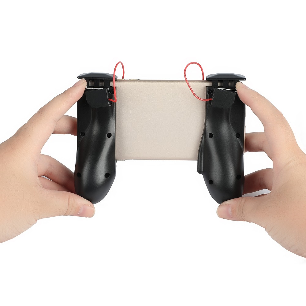 Image 3 - 2 in 1 Universal Mobile Phone Gamepad Controller L1R1 Trigger Fire Button Shooter Controller For PUBG For iphone Android-in Gamepads from Consumer Electronics