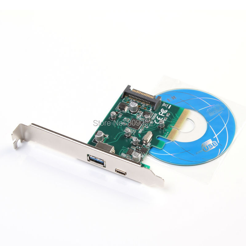 PCI-E 4X Express to Internal USB 3.1 &3.0 Dual Port Riser Expansion 10Gbp Card Adapter
