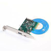 PCI E 4X Express to Internal USB 3.1 &3.0 Dual Port Riser Expansion 10Gbp Card Adapter