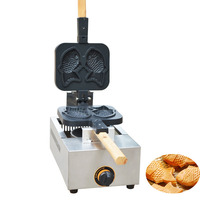 Jamielin ticari kullanım Taiyaki balık şeklinde Waffle makinesi gaz balık kek Taiyaki soba yapışmaz 2 kalıpları