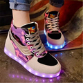 2016 8 cores de sapatos para Fashion leisure women LED USB para LED shoes Free shipping
