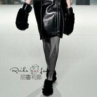 Mídias Pantis Mulher Impressão Apressado Real 2017 personalidade Meia-calça Feminina Diamante Malha Collants Engrossado Terry Fina Pressão