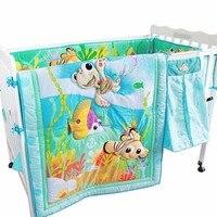 Baby Bedding Set Comforter Sheets Bed Skirt Bumper Nursing Bed Baby Bedding Cartoon Pattern