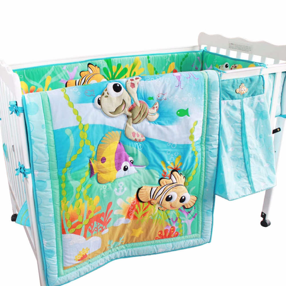 Baby Bedding Set Comforter  Sheets Bed Skirt Bumper Nursing Bed Baby Bedding Cartoon Pattern