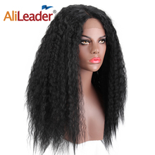 Alileader Lace Front Wigs With Baby Hair Fashion Long Hair Wig