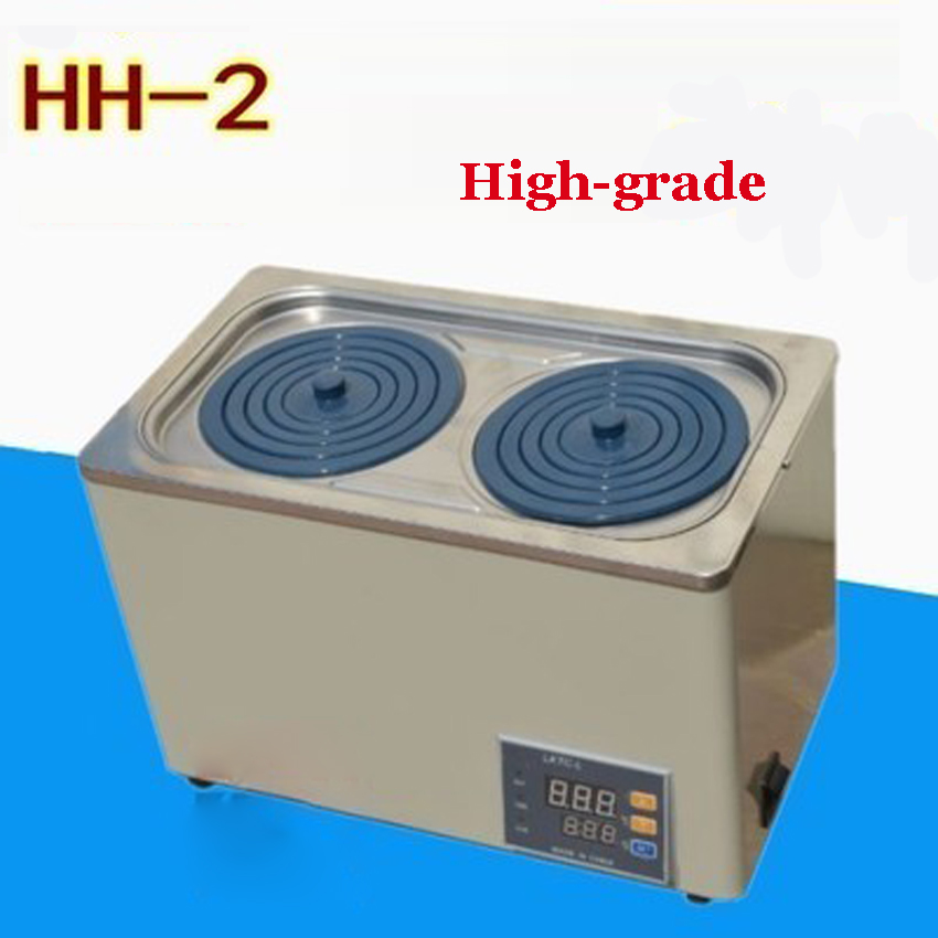 1PC High-grade HH-2 double digital display electric thermostatic water bath Studio volume  6.8L AC 50Hz 220V social housing in glasgow volume 2