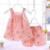 15 estilos de verão do bebê meninas roupas conjunto algodão sem mangas + shorts 2 pçs infantil meninas roupas sunsuit sem costas roupa da criança