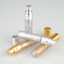 2 шт./лот 5 мл 10 мл Портативный стиль стекло флакон духов с алюминиевым распылителем и пустой косметический тюбик для путешествий