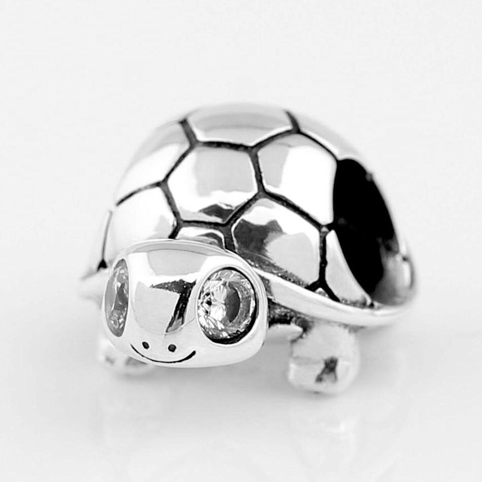 9c13b8cc738a Cuentas de plata de ley 925 cuentas de tortuga de ojos brillantes abalorios  para joyería que se ...