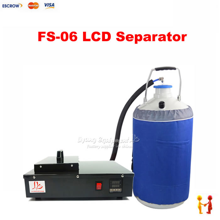FS-06 Pack 2 in 1 Nitrogen Frozen Separator Liquid Frozen Separating Machine With Oil-free Pump & Liquid Nitrogen Tank