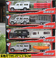 1:32 Alloy Toy Travel Trolley Car Camping Car Trailer Car Metal Car Model Off-road vehicles trailer Gift Package