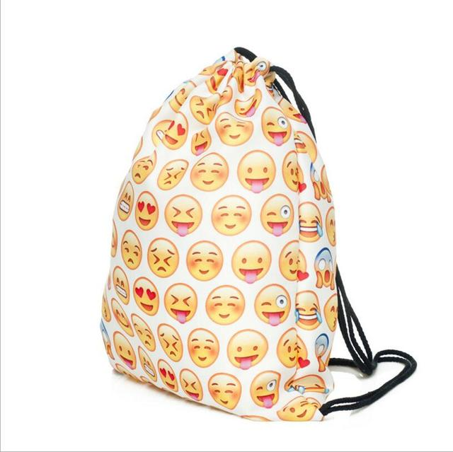 ファッション絵文字flodableバッグバックパックスポーツバッグstoraging服靴バッグ化粧品ホームぶら下げハンドバッグ