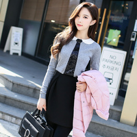 Original 2018 Brand Autumn Winter New Temperament Solid Color High Waist Skirt Space Cotton Fashion Skirts