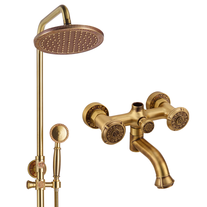 Back To Search Resultshome Improvement Shower Equipment Original Shower Faucet Valve Panel 3 Handwheel Four-way 2 Outlets Bathroom Bath And Mixer Tap In-wall Chrome Brass Big Clearance Sale