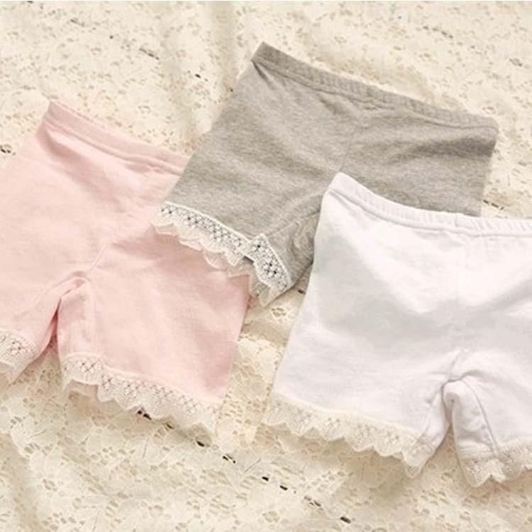 Korean Child Girls   Shorts   Modal Lace Pants Children girls   Shorts   Safe   shorts