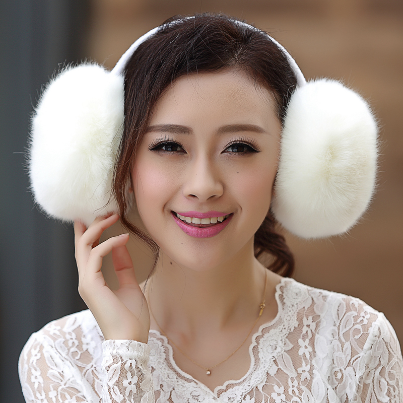 Super Big Size Warm Faux Rabbit Fur Earmuff Cute Velvet Fur Earmuff Faux Fox Fur Winter Multicolor Ear Protection Earmuff Unisex