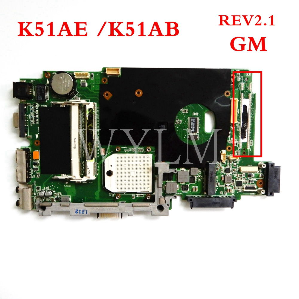 K51AE mainboard For ASUS K51AE K51AB K70AC X7AC X7AE K70AE K70AD K70AB K70AF Laptop font b