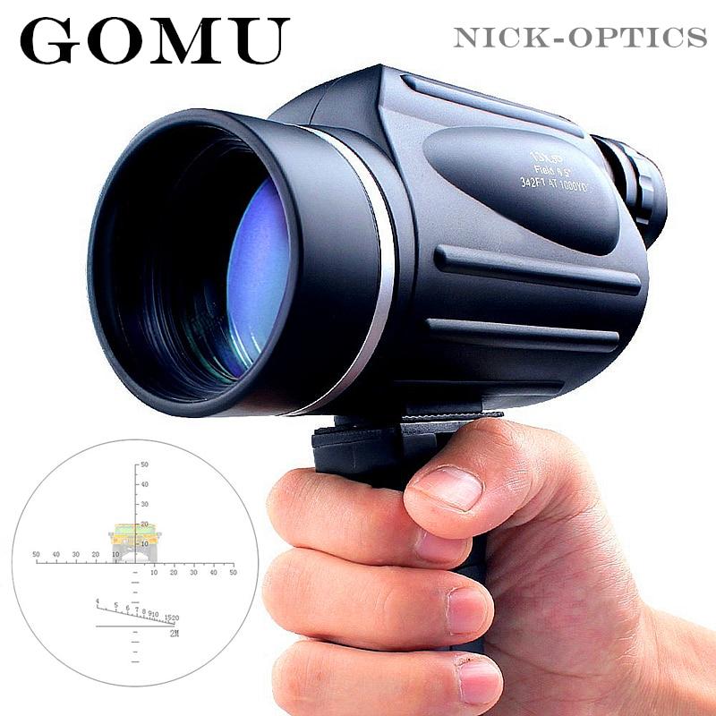 Gomu 13x50 Telescope Powerful With Rangefinder High Times Monocular Professional Hd Binoculars For Bird Watching&hunting Travel 2880 4c потолочная люстра металл хрусталь odeon light