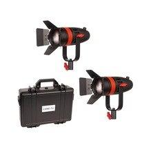 2 Pcs CAME TV Boltzen 55w Fresnel Focusable LED 일광 키트 F 55W 2KIT Led 비디오 라이트
