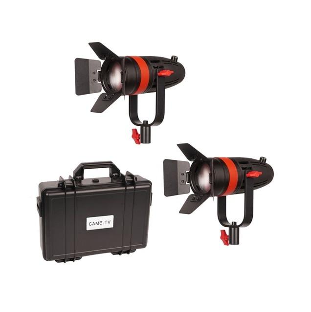 2 Pcs CAME TV Boltzen 55w Fresnel Fokussierbare LED Tageslicht Kit F 55W 2KIT Led video licht