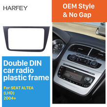 Harfey por 2004 + SEAT Altea Toledo LHD 2 DIN Car Radio Fascia Dash Trim Kit * 220*130mm reproductor de DVD ESTÉREO(China)