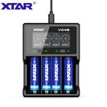 XTAR VC4 S VC4S QC3.0 고속 충전, 단일 슬롯 용 Max3A 3.6/3.7v 리튬 이온 IMR/INR/ICR/배터리에 적용 18650 14500 20700 21700