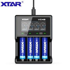 Image 1 - XTAR VC4 S VC4S QC3.0 الشحن السريع ، Max3A لفتحة واحدة تنطبق على 3.6/3.7 فولت ليثيوم أيون IMR/INR/ICR/بطارية 18650 14500 20700 21700