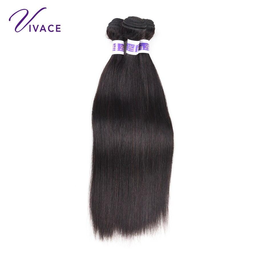 Straight Hair Bundles Mänskliga Hårvävspapper 100% Remy Hair - Mänskligt hår (svart) - Foto 1