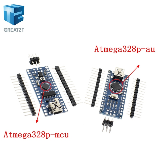 Nano Mini USB With the bootloader compatible Nano 3.0 controller CH340 USB driver 16Mhz Nano v3.0 Same as ATMEGA328P Good