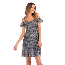 Flying ROC knee length women summer dress sexy short none sleeve casual vestido female dresses