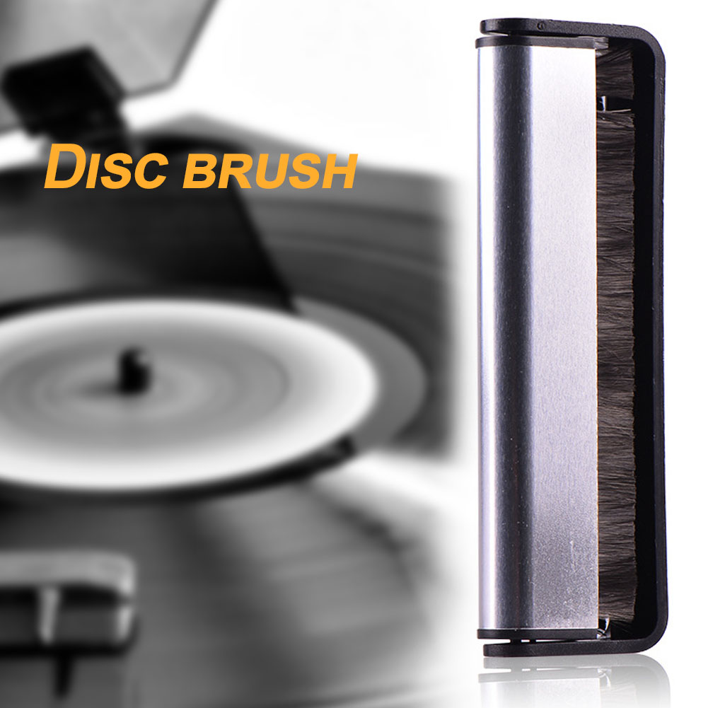Phonograph Soft Record Brush Carbon Fiber Cleaner Cleaning Tool Scrubbing Vinyl Black Turntables Audio Handle Pad Anti Static