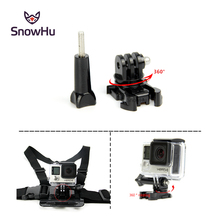 цена на SnowHu For Gopro accessories 360 Degree Rotate  Buckle Base Vertical Surface Mount Adapter for GoPro Hero 7 6 5 4 3 For Yi GP203