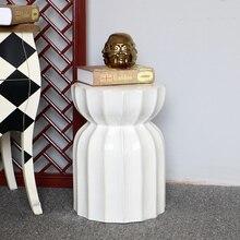 Китайский белый керамический фарфоровый садовый табурет